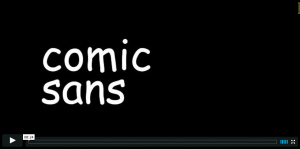 Comic_Sans_on_Vimeo